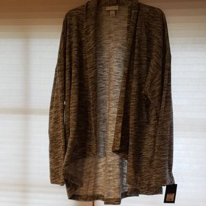 3xl heather gray sweater/jacket NWT